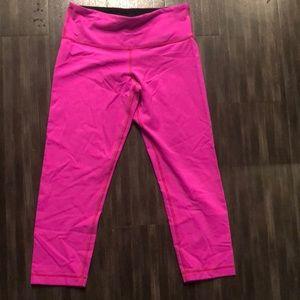 Hot Pink Reversible Lululemon crops